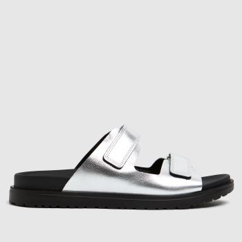 The Edit by schuh Silver Pearl Leather Womens Sandals