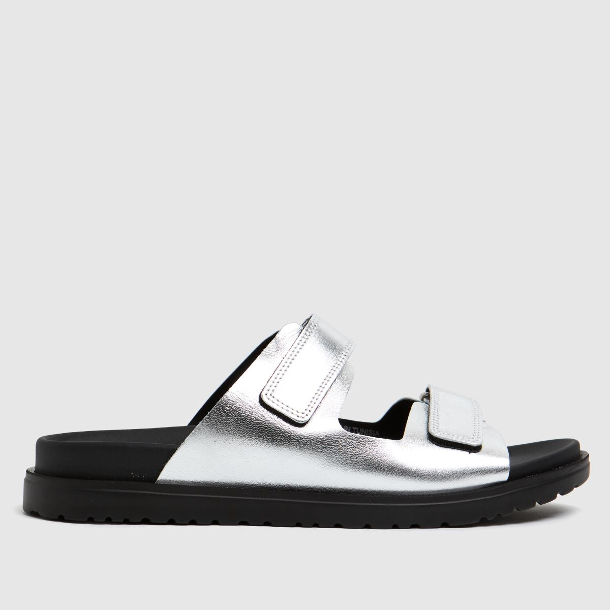 The Edit By Schuh Silver Pearl Leather Sandals