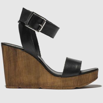 schuh Black Oslo Womens Sandals