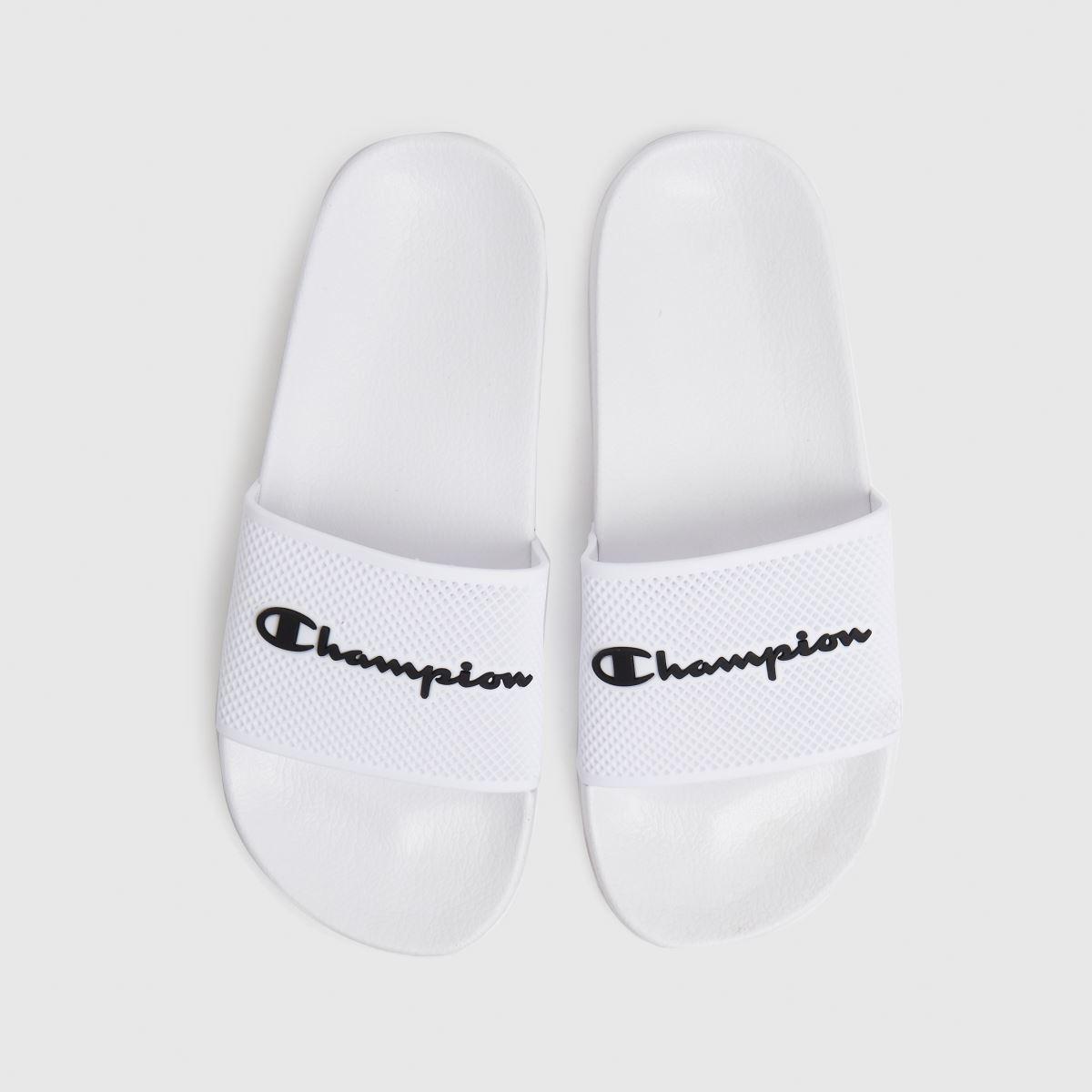 Champion White & Black Daytona Sandals