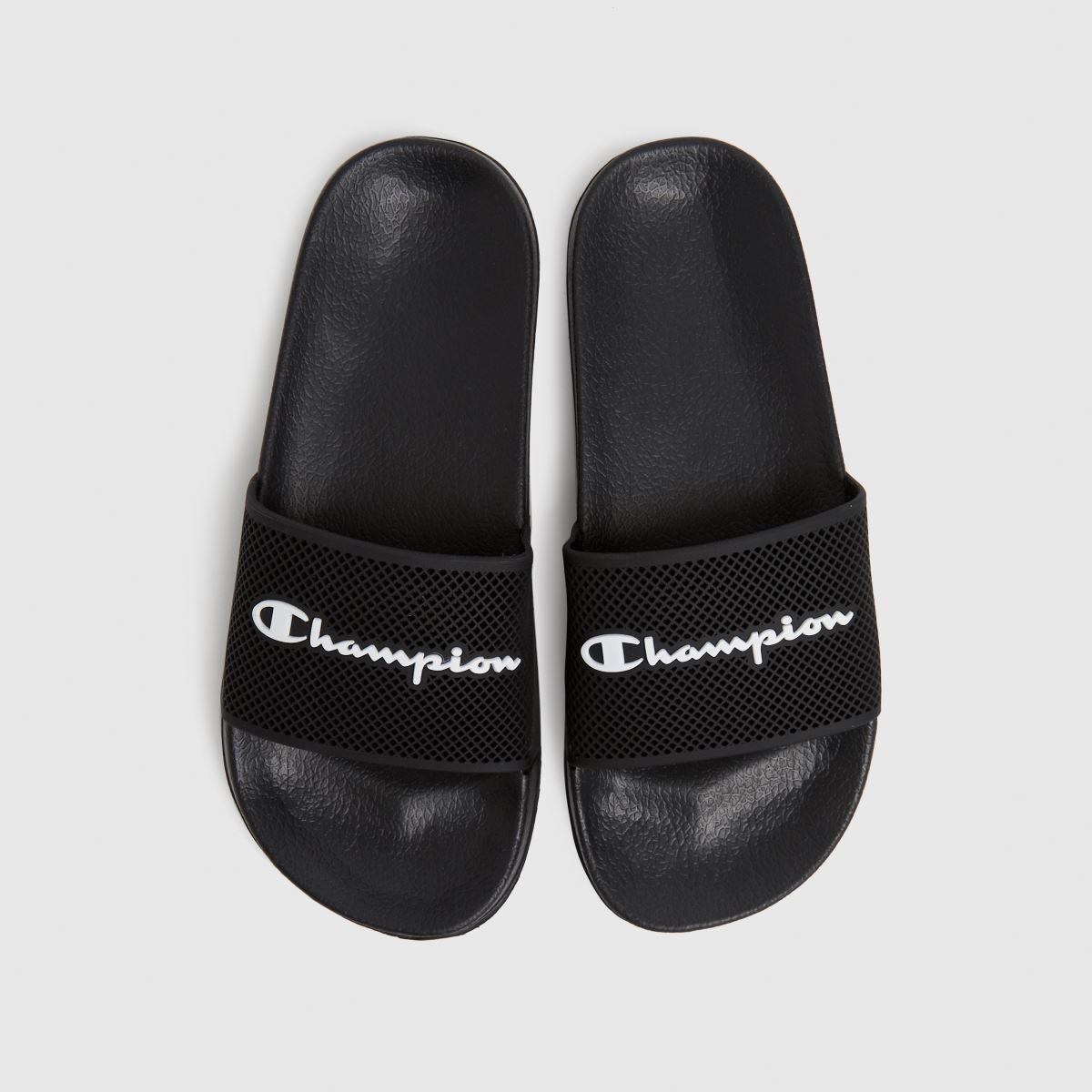 Champion Black & White Daytona Sandals