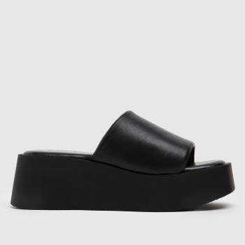 schuh Black Tamera Flatform Mule Womens Sandals