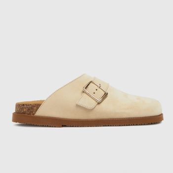 schuh Beige Valencia Closed Toe Footbed Womens Sandals
