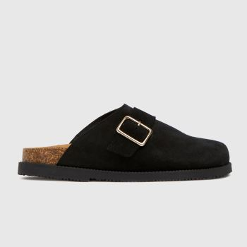 schuh Black Valencia Closed Toe Footbed Womens Sandals