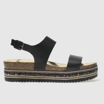 Schuh Black Orlando Womens Sandals