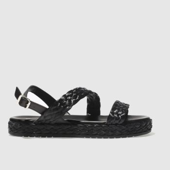 Schuh Black Malta Womens Sandals
