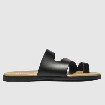 schuh black corsica sandals