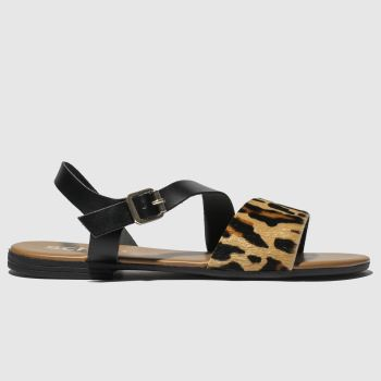Schuh Black & Brown Venice Womens Sandals