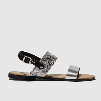 Schuh Black & Silver Kerala Womens Sandals