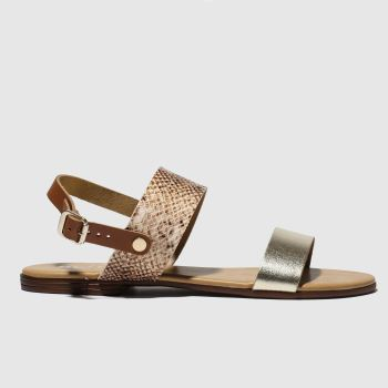 Schuh Brown & Black Kerala Womens Sandals