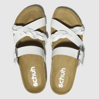 Schuh White Astrology Womens Sandals