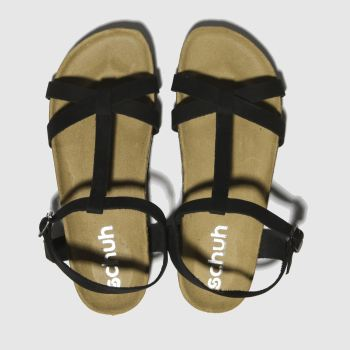 schuh black cancun sandals