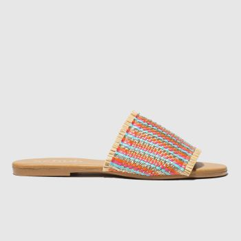 Schuh Beige & Blue Naples Womens Sandals