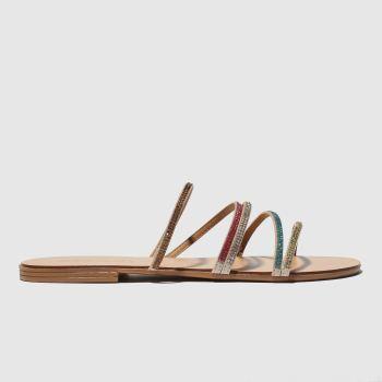 Schuh Gold & Pink Dubai Womens Sandals