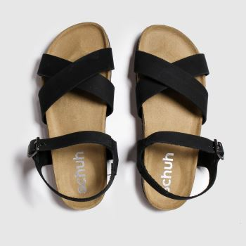 schuh Black Tulum Womens Sandals