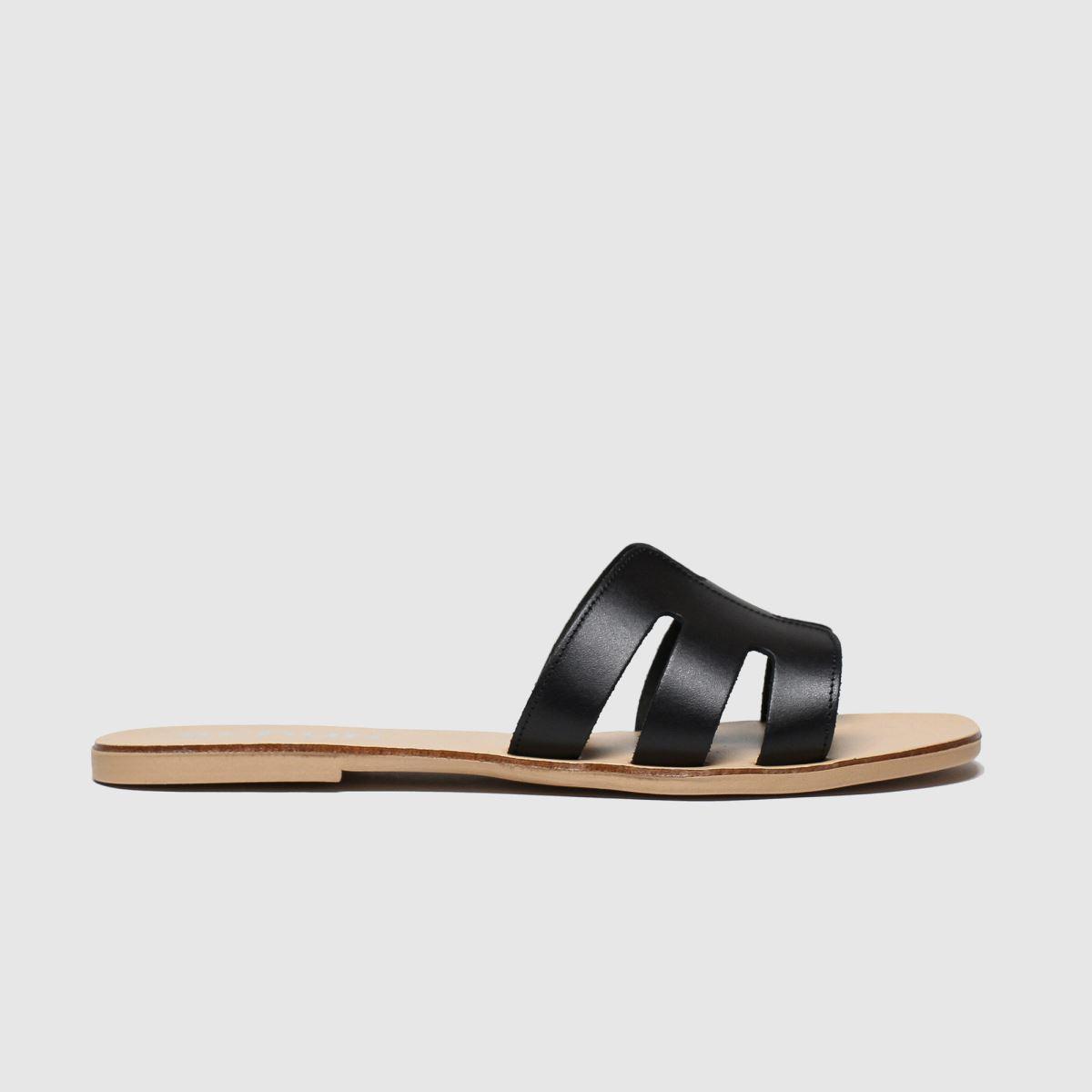 schuh Schuh Black Palma Sandals