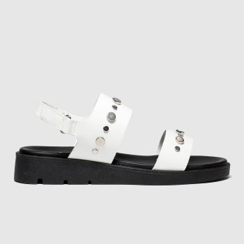 schuh White Paris Womens Sandals
