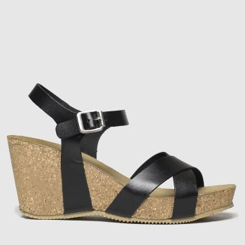 Schuh Black Gorgie Gayle 3 Womens Sandals