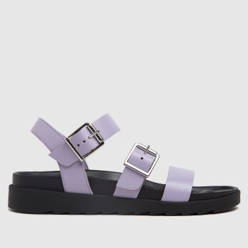 schuh Lilac Chaser Leather Chunky Buckle Womens Sandals