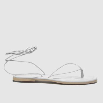 Schuh White Lisbon Tie Up Sandal Womens Sandals