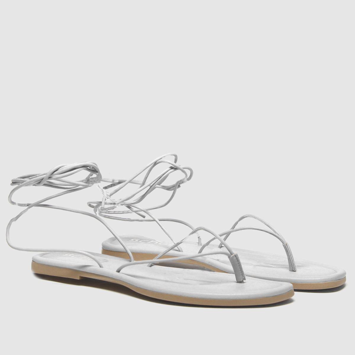 Womens White schuh Lisbon Tie Up Sandal