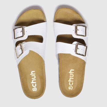 schuh white milan sandals