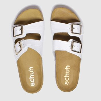 Schuh White Milan Womens Sandals#