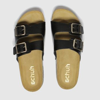 schuh Black Milan Womens Sandals