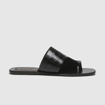schuh Black Copenhagen Leather Mule Womens Sandals