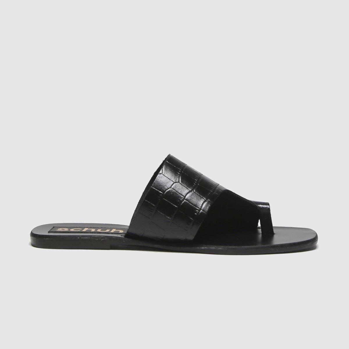 schuh Schuh Black Copenhagen Leather Mule Sandals