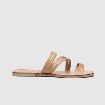 schuh Tan Marbs Leather Toe Loop Womens Sandals