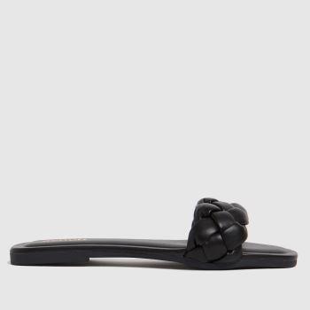 schuh Black Tia Weave Womens Sandals