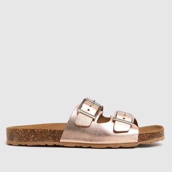 schuh Bronze Trust Leather Double Buck Womens Sandals