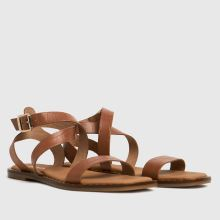 schuh Toni Leather Croc Ankle Strap,2 of 4