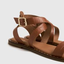 schuh Toni Leather Croc Ankle Strap,4 of 4