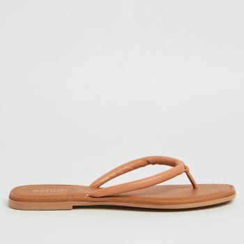 schuh Tan Tassy Toe Post Womens Sandals