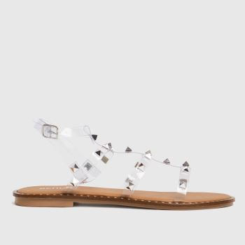 schuh Clear Tara Perspex Studded Gladiator Womens Sandals
