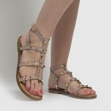 schuh Tara Leather Studded Gladiator 1