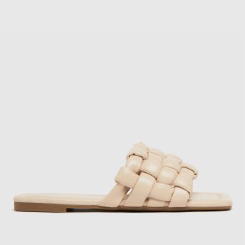 schuh White Tilde Weave Square Toe Womens Sandals