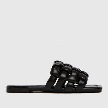 schuh Black Tilde Weave Square Toe Womens Sandals