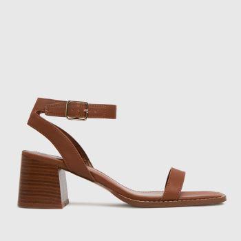 schuh Tan Valerieblock Heel Womens Sandals