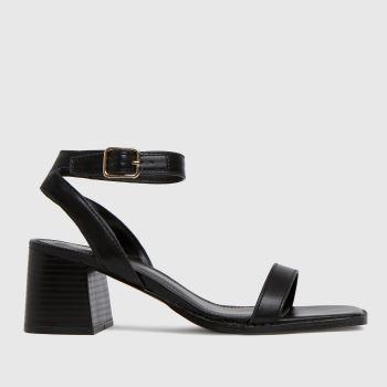 schuh Black Valerie Block Heel Womens Sandals