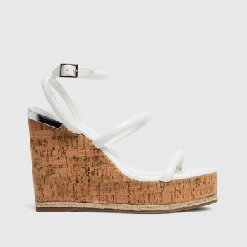 schuh White Valentina Espadrille Wedge Womens Sandals