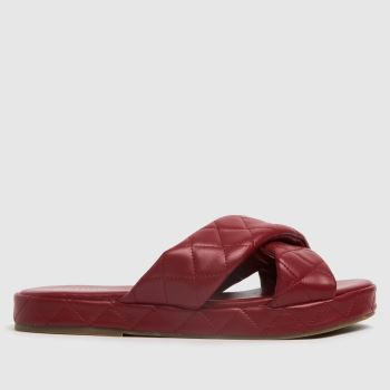 schuh Red Trudie Padded Cross Strap Womens Sandals