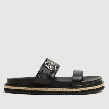 schuh Black Tommi Buckle Espadrille Womens Sandals
