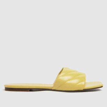 schuh Yellow Tell Padded Mule Womens Sandals