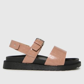 schuh Natural Taytum Croc Back Strap Womens Sandals