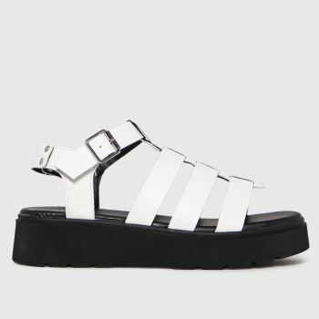 schuh White Tallulah Chunky Gladiator Womens Sandals