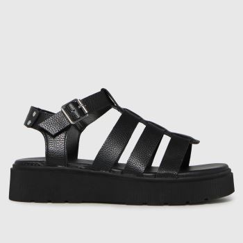 schuh Black Tallulah Chunky Gladiator Womens Sandals