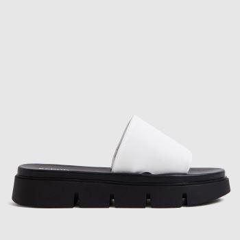 schuh White Thurman Chunky Mule Slider Womens Sandals